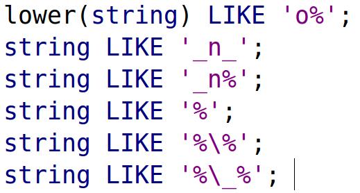 LIKE and ILIKE for Pattern Matching in PostgreSQL